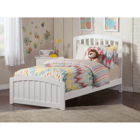 Richmond Twin Traditional Bed with Matching Foot Board in White