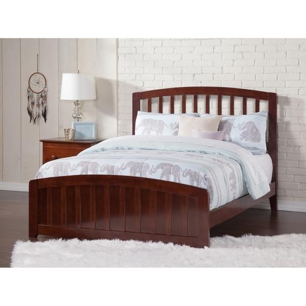 Shop Atlantic Furniture Richmond Walnut Wood Full-size Bed - Free ...