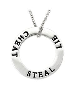 Mondevio Sterling Silver 'Inspirational' Circle Necklace