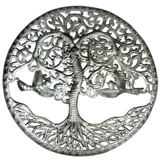 Handmade Tree of Life Metal Art (Haiti)