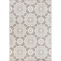 KAS Skyline Grey/Ivory Flora Rug - 5'3 x 7'7