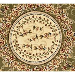 Safavieh Lyndhurst Traditional Oriental Sage/ Ivory Rug (8' Round) - Thumbnail 1