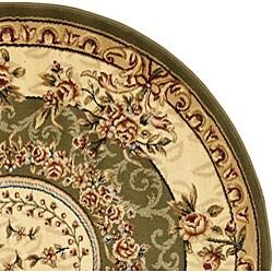 Safavieh Lyndhurst Traditional Oriental Sage/ Ivory Rug (8' Round) - Thumbnail 2