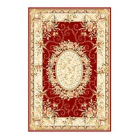 "Safavieh Lyndhurst Traditional Oriental Red/ Ivory Rug - 3'3"" x 5'3"""