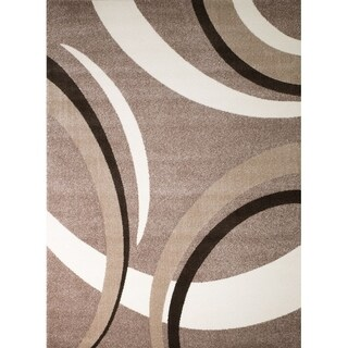 "Rug And Decor - Rio , Abstract, Brown Area Rug - 7'4"" x 10'6"""