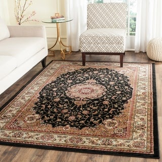 Safavieh Lyndhurst Collection Traditional Black Ivory Rug