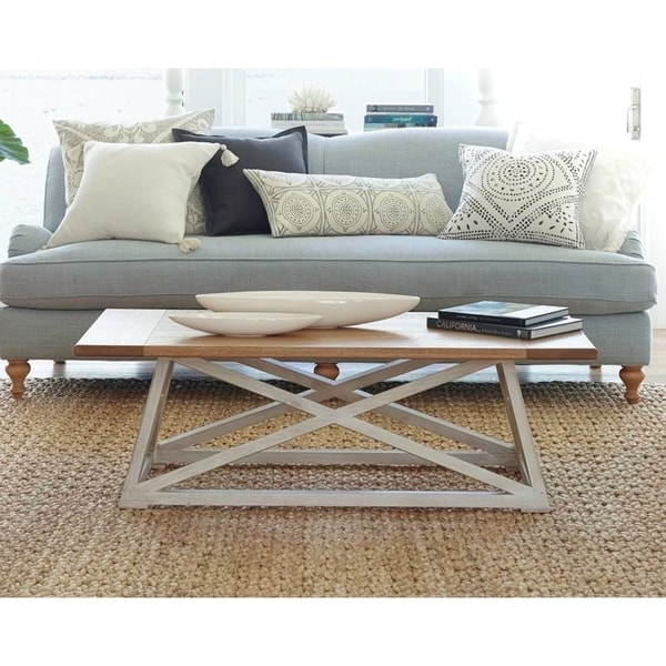 Posh Pollen Finley Costal Two-Tone Coffee Table