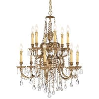 Crystorama Novella 12-light Olde Brass Chandelier