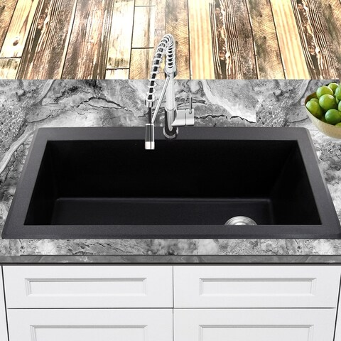 Highpoint Collection 33 inch Topmount Granite Composite Sink