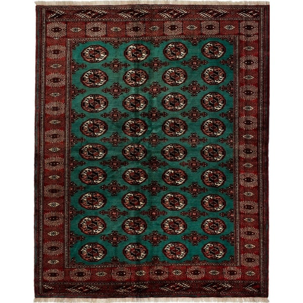 Shop ECarpetGallery Hand-knotted Turkoman Teal Wool Rug