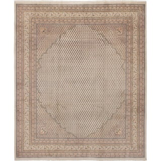 eCarpetGallery Hand-knotted Royal Sarough Cream Wool Rug - 8'3 x 9'10