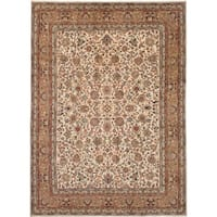 eCarpetGallery  Hand-knotted Royal Mahal Cream Wool Rug - 8'1 x 11'2