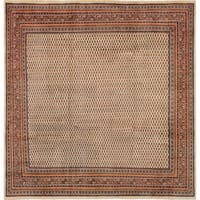 eCarpetGallery  Hand-knotted Royal Sarough Cream Wool Rug - 9'7 x 9'10