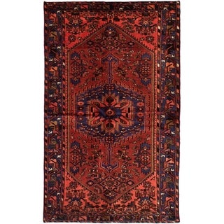 eCarpetGallery  Hand-knotted Hamadan Dark Copper Wool Rug - 4'7 x 7'5