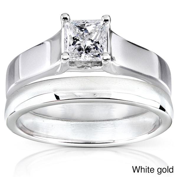 Annello by Kobelli 14k Gold 1/2 ct TDW Diamond Bridal Ring Set