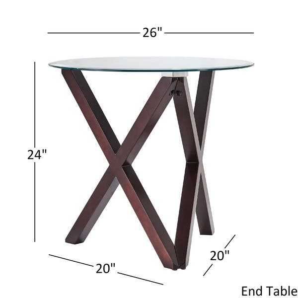 Shop Cora Contemporary Glass Top X Base Accent Tables By Inspire Q
