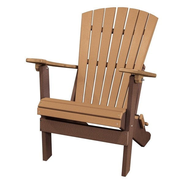 Charmant OS Home Model 519CTB FanBack Folding Adirondack Chair In Cedar And Tudor  Brown