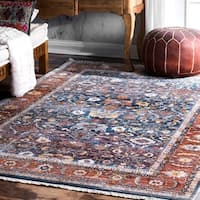 """nuLOOM Blue Victorian Ombre Area Rug - 6' 7"""" x 9' 4"""""""