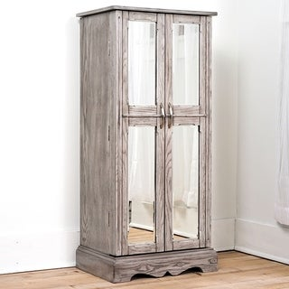 Hives & Honey Chelsea Standing Jewelry Armoire, Smoke Grey