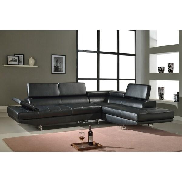 Golden Coast Furniture Luxury Bonded Leather L-Shape Sectional Sofa