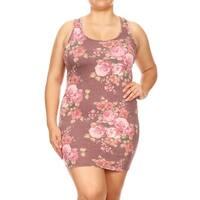 Women's Plus Size Floral Racerback Tank Style Dress