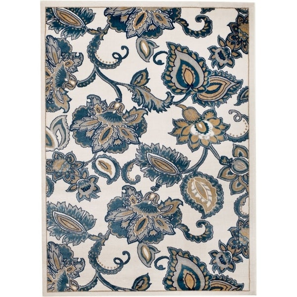 "Rug And Decor - Madison Collection Traditional Cream Area Rug - 7'7"" x 10'6"""