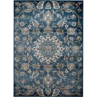 "Rug And Decor - Madison Traditional Light Blue Traditional Design Area Rug - 3'6"" x 5'"