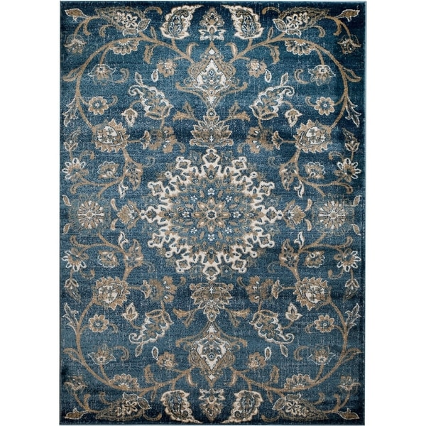 Shop Nuloom Traditional Persian Fancy Aqua Rug: Madison Collection Traditional Light