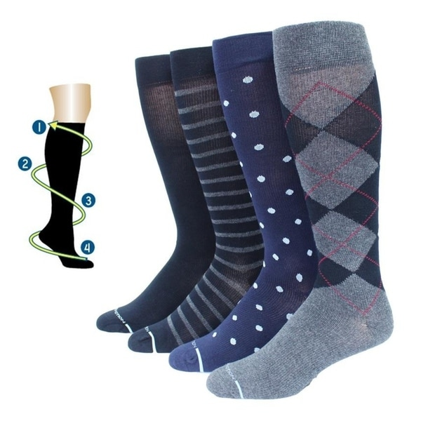 b9f13a594 Dr. Motion Men  x27 s Traveler Therapeutic Graduated Compression Knee high  Socks (