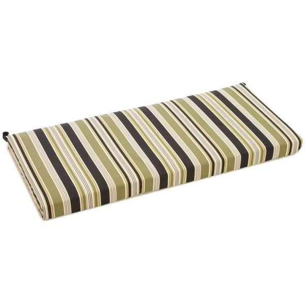 Shop Blazing Needles All Weather Striped 40 Inch Bench Cushion On Sale Free Shipping On