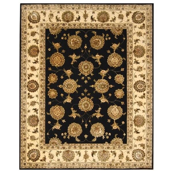 Indo Persian Tabriz Wool Area Rug: Shop Handmade Herat Oriental Indo Hand-Tufted Wool & Silk