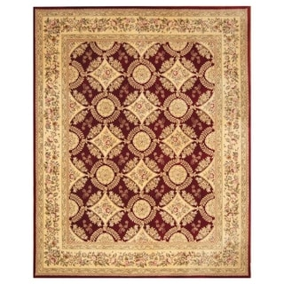 Handmade Wool and Silk Tabriz Rug (India) - 8' x 10'