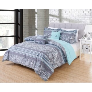 Hotel 5pc Comforter Set in pattern Giverny in size FullQueen