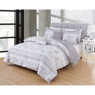 Hotel 5pc Comforter Set in pattern Nantes in size King