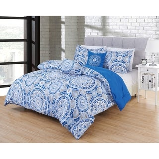 Hotel 5pc Comforter Set in pattern Marseille in size King