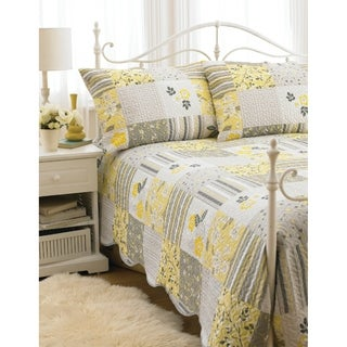 "Hotel Quilted 90""x90"" Bedspread 3 Piece Set Bella in size Double/Queen"