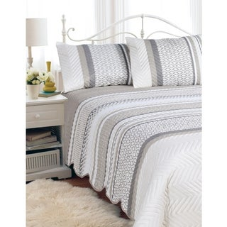 """Hotel Quilted 90""""x90"""" Bedspread 3 Piece Set AZTEC in size Double/Queen"""