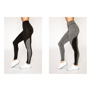 Womens Active Legging With Mesh Insert By Hot Kiss (More options available)