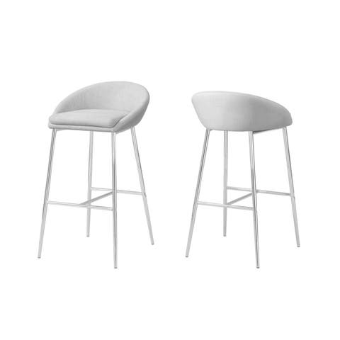 Pleasant Buy Low Back Grey Counter Bar Stools Online At Overstock Andrewgaddart Wooden Chair Designs For Living Room Andrewgaddartcom