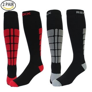 Rexx Performance & Recovery Unisex Knee High Compression Socks 20-30mmHg (2-Pairs)