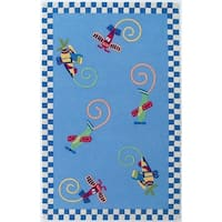 KAS Kidding Around Flying Fun Rug - 2' x 3'