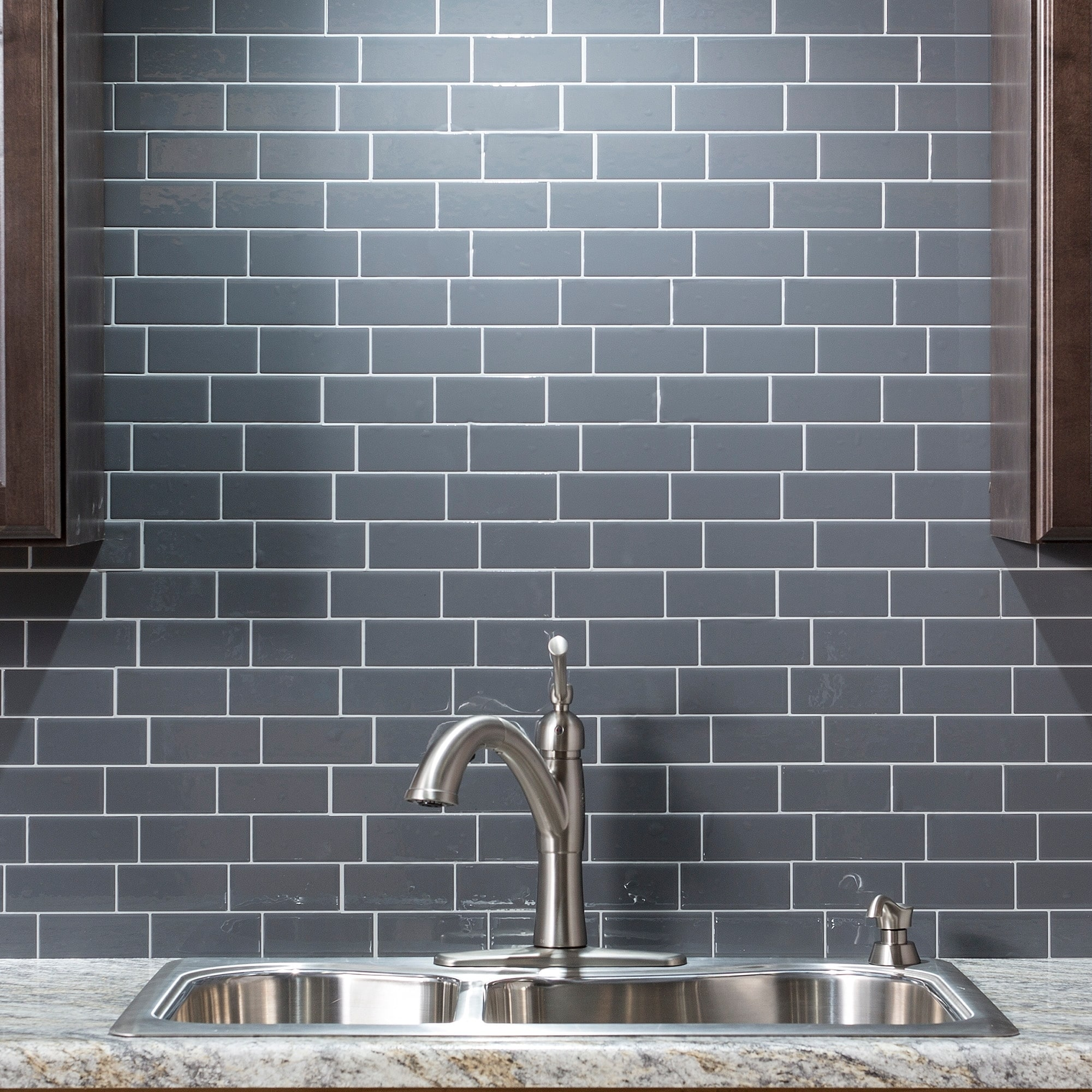 - Shop Tack Tile Peel & Stick Vinyl Backsplash (pack Of 3
