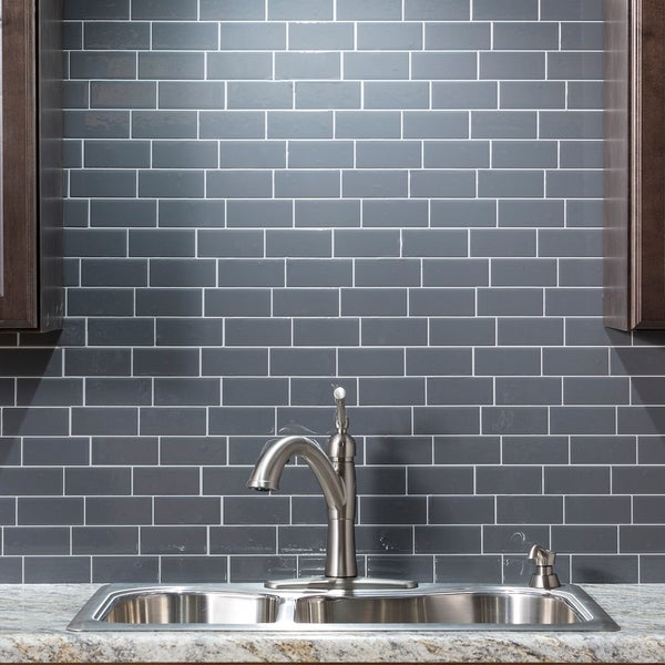 Up To 45 Off Peel Stick Kitchen Backsplash Tile At Walmart: Shop Tack Tile Peel & Stick Vinyl Backsplash (pack Of 3
