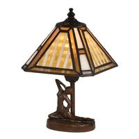 Springdale Amber Plaid Accent lamp
