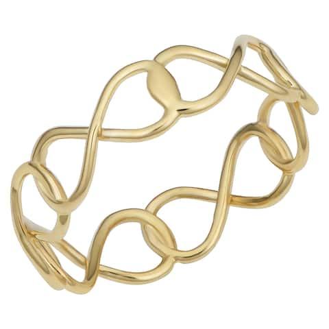 Fremada Italian 14k Yellow Gold Infinity Ring