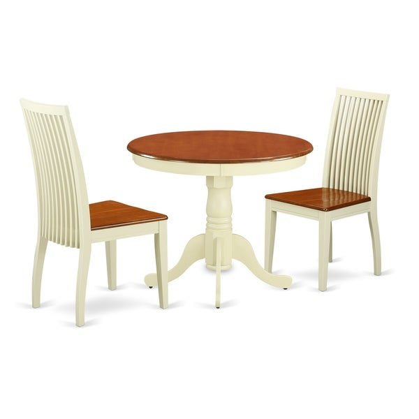 Table & 2 Chairs In Buttermilk