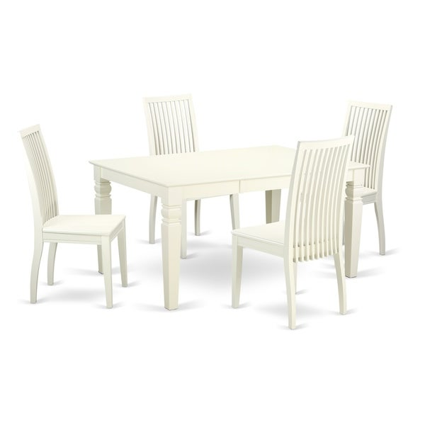 5pc Set Round Dinette Kitchen Table W 4 Microfiber: 1 Weston Table & 4 Chairs In A