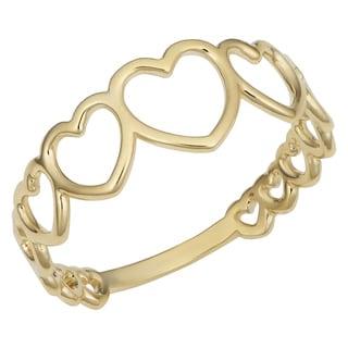 Link to Fremada Italian 14k Yellow Gold High Polish Graduated Hearts Ring Similar Items in Rings
