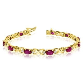 Ruby Gemstone Bracelets Online At Our Best Deals