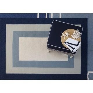 Libby Langdon Hamptons Slate/Navy Highview Rug - 6'6 x 9'6